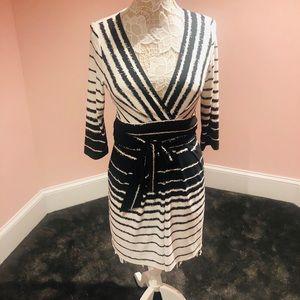 BCBG deep V cut dress